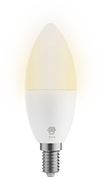 Decorative Candle Bulb White